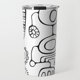 Orbs N Lines - Feather Flower Chime Travel Mug