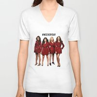 pretty little liars V-neck T-shirts featuring #WCEveryday Pretty Little Liars cast by Illuminany
