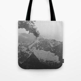 Volcano black and white Tote Bag
