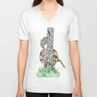 wild things V-neck T-shirts featuring The Wild Things by Cherry Virginia
