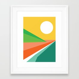 The beach Framed Art Print