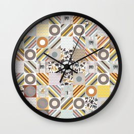 urban jungle squares Wall Clock