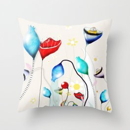 After all that we've been through - Poppy seed dried Rupy de tequila seed pods Throw Pillow
