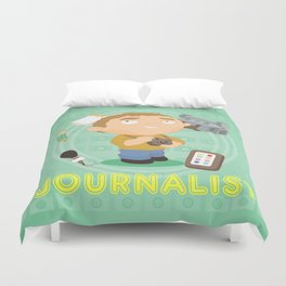 Journalist Duvet Cover