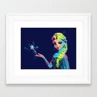 elsa Framed Art Prints featuring Elsa by lauramaahs