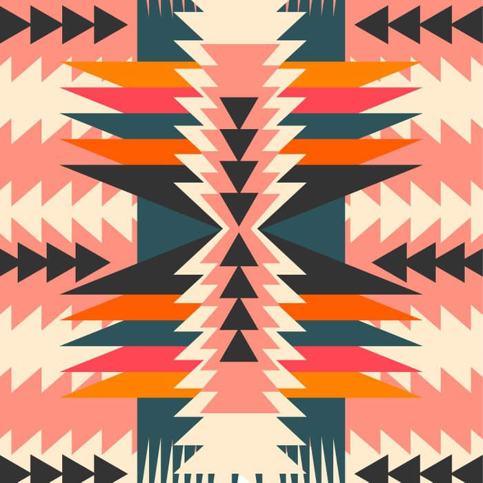 Colorful ethnic decoration Duvet Cover