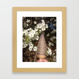 Pear and Plying Framed Art Print