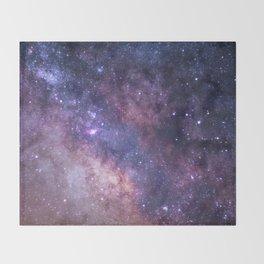 Purple Galaxy Star Travel Throw Blanket