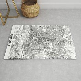 Phoenix White Map Rug