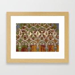 Batalha gothic tracery Framed Art Print