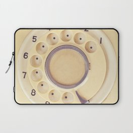Yellow Retro Telephone  Laptop Sleeve