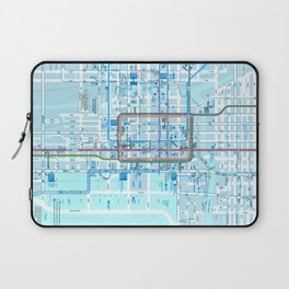 Chicago map in blue Laptop Sleeve