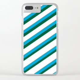 TEAM COLORS 1...LIGHT BLUE,GREEN Clear iPhone Case