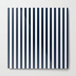 STRIPED DESIGN (NAVY BLUE-WHITE) Metal Print
