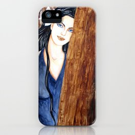 Girl in the forest iPhone Case