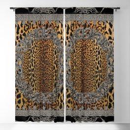 Baroque Leopard Scarf Blackout Curtain