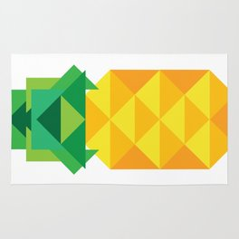geometric pineapple Rug