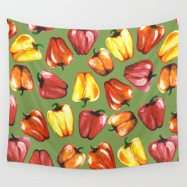 Bell Peppers Pattern Wall Tapestry