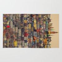 copenhagen Area & Throw Rugs featuring Copenhagen Facades by Siddharth Dasari