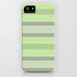 Green , gray stripes. iPhone Case