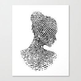 Fingerprint Silhouette Portrait No.1 Canvas Print