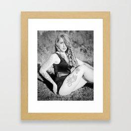 Kandie in B&W Framed Art Print