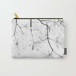 black and white maple leaves Carry-All Pouch