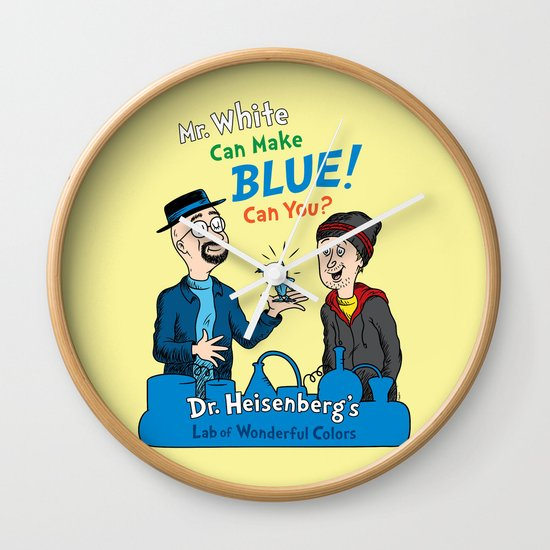 Mr. White Can Make Blue! Wall Clock