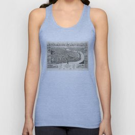 Vintage Pictorial Map of Holyoke MA (1881) Unisex Tank Top