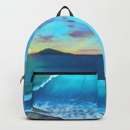 North Side Sunrise Seascape Mural Backpack