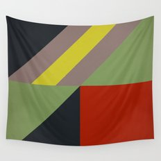 Modernist Geometric Graphic Art Wall Tapestry