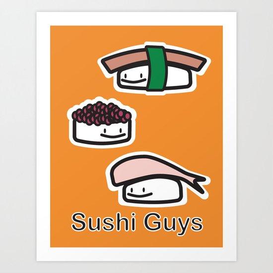 Sushi Guys Art Print