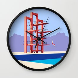 Soviet Modernism: Diving tower in Etchmiadzin, Armenia Wall Clock