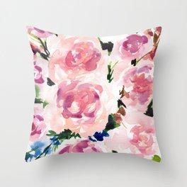 Pastel Pinks Throw Pillow