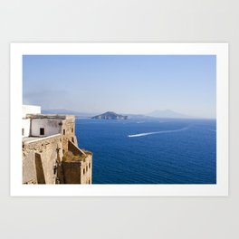 Naples Seen from Procida Island Art Print
