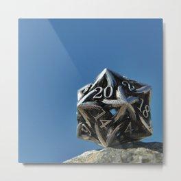 20 sided dice Metal Print