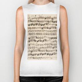 Johann Sebastian Bach (1685 – 1750) original music sheet Biker Tank