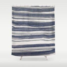 Brush stroke stripes Shower Curtain