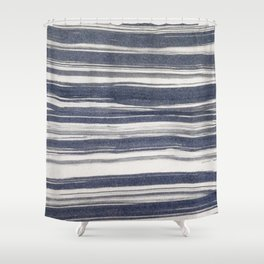 Brush stroke stripes Shower Curtain