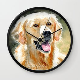 Golden Retriever Light Wall Clock