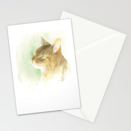 dreaming - abyssinian cat Stationery Cards