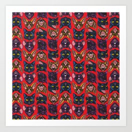 Bats! Cats! Rats! Art Print