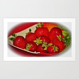 Plate Of Sweetness Art Print