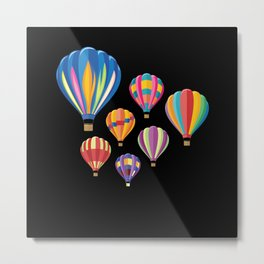 Hot Air Balloon Balloning Metal Print