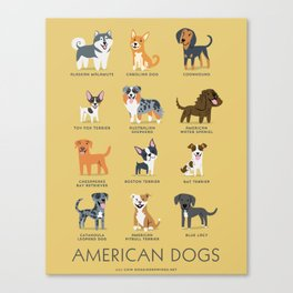 AMERICAN DOGS Canvas Print
