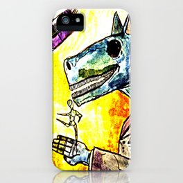 strange horses giving friendship iPhone Case