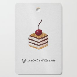Life Is Short, Dessert Quote Cutting Board