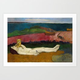 Paul Gauguin - The Loss of Virginity (1891) Art Print