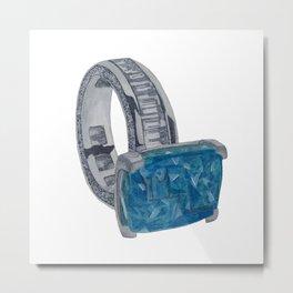 Blue ring Metal Print