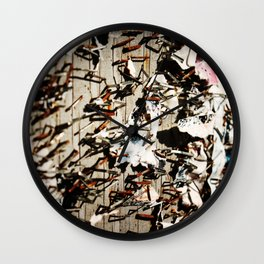 Stapled To Death Wall Clock